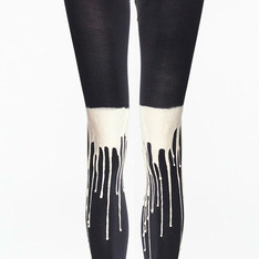URB 的 URB BLACKNWHITE MELTING LEGGINGS FOR MEN(內搭褲)