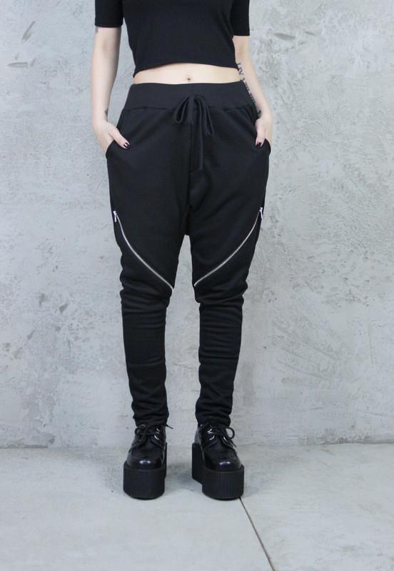 VAMPS CLOTHING 的 拉鍊低檔哈倫褲