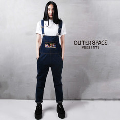 OUTER SPACE 的 牛仔吊帶褲