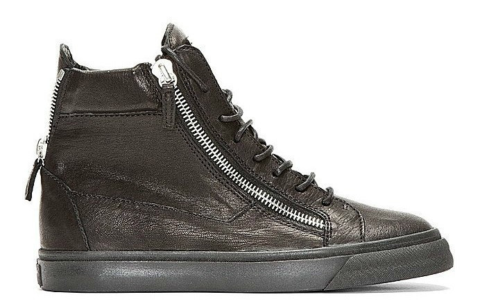 GIUSEPPE ZANOTTI HOMME  的 LEATHER HIGH TOP SNEAKERS
