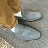 灰藍麂皮樂福鞋