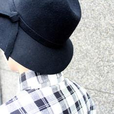 JUAND.JU 的 寬頂紳士帽