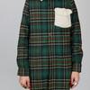 MIYUTI 的 羊羔毛拼接格子襯衫