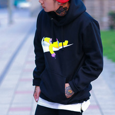 THE SIMPSONS 的 LOGO HOODIE