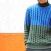 DEMARCOLAB 的 雙色拼接毛衣