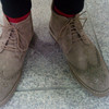 WHILE 的 麂皮高筒靴