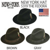 NEW YORK HAT 的 NEW YORK HAT羊毛寬帽沿紳士帽