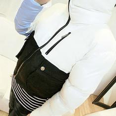WONDERWALL 的 黑拼白棉外套