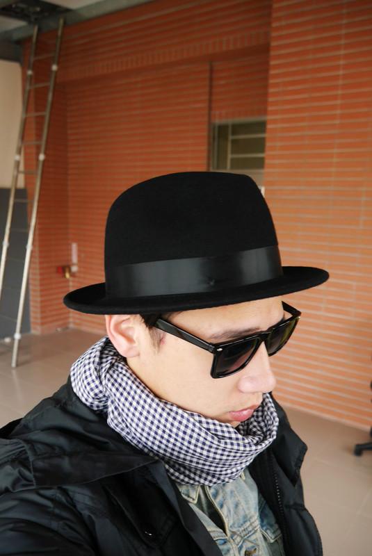 RAGEBLUE 的 羊毛紳士帽