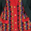 VINTAGE 的 菱格針織衫