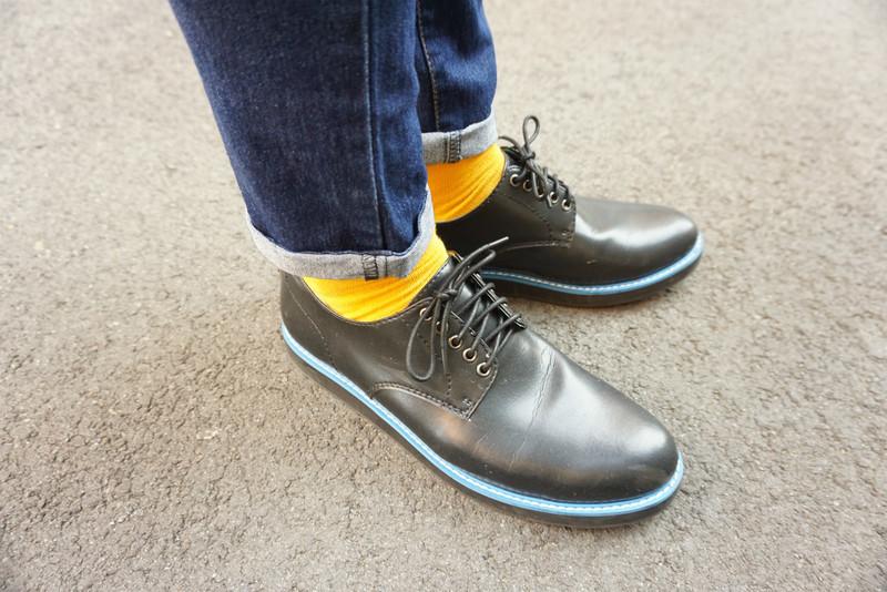 WHILE 的 撞色厚底鞋