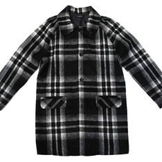 STONE'AS 的 格紋毛料大衣