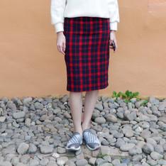 HI EARTH(!) 的 英倫高腰顯瘦裙