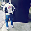 刺繡外套背面