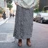 MY BASIC SELECT 的 羊毛皺布長裙
