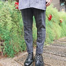 CHAINLOOP 的 綠格紋羊毛西裝褲