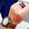 無品牌 的 復古錶 貓頭鷹戒指