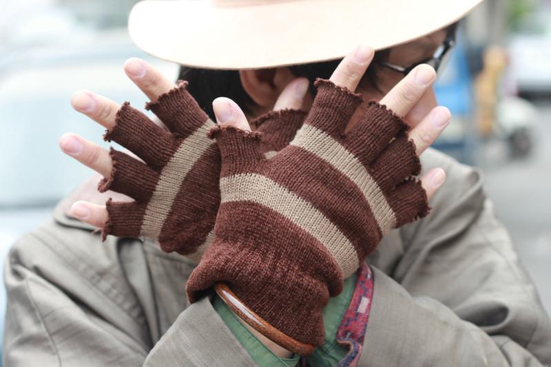 NO BRAND 的 咖啡色手套
