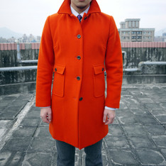 BANANA REPUBLIC 的 橘色羊毛大衣