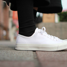 CONVERSE JACK PURCELL SIGNATURE 的 開口笑帆布鞋