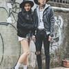 無品牌 的 英倫情侶穿搭-搖滾街頭