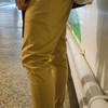 PLAIN-ME 自製商品  的 織紋彈性低檔TAPERED褲