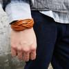 EVENTI 的 細皮繩編織手環