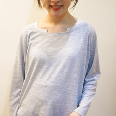 STARMIMI 的 灰色竹節紋上衣