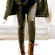 H&M 的 仿皮褲