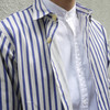 PLAIN-ME 自製商品  的 條紋襯衫式外套