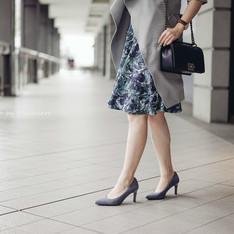 FED INTERNATIONAL 的 藍灰色高跟鞋