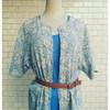DAISY DREAM 的 老祖母的灰藍小花上衣