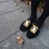 DRESS CODE 的 [黑麂皮]LAURUS刺繡金屬鞋