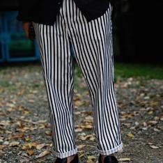 PLAIN-ME 的 條紋褲
