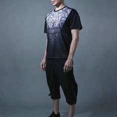 ACROSPHERE 的 GRAVITY BLK SAROUEL TROUSERS