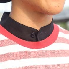 PLAIN-ME 的 立領長版襯衫