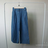SMARTSNOWSNOW 的 腰帶牛仔寬褲