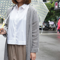 MY BASIC SELECT 的 棉麻罩衫