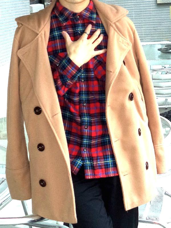 BOY2小二布屋 的 英倫雙排釦質感毛呢外套