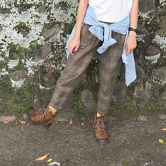 E-WEAR 的 格紋長褲