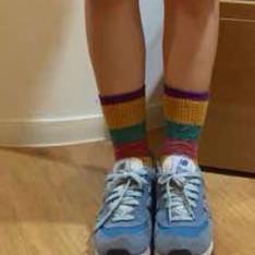 1ST SPACE 的 彩色條紋長襪