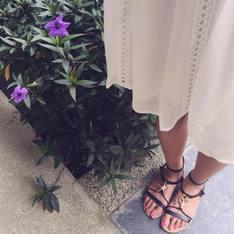 L'ELISIR BOUTIQUE 的 ELLIS SEA款牛皮真皮涼鞋