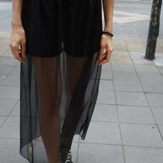 路邊攤 的 網紗裙褲