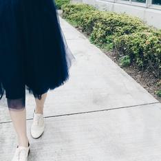 手工訂製 的 長紗裙