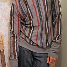 MR. TIGER 的 條紋針織衫
