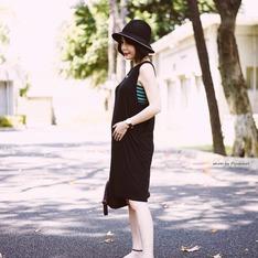 #NUDE 的 黑色彈性洋裝