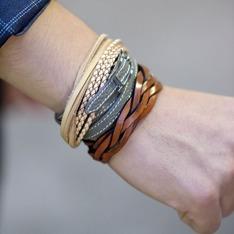無品牌 的 皮革手環