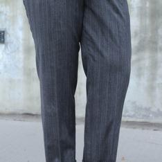 NO BRAND 的 直條紋西裝褲