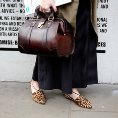 GIANVITO ROSSI 的 豹紋平底鞋
