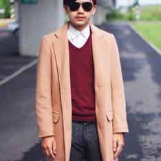 HARE 的 駝色羊毛大衣